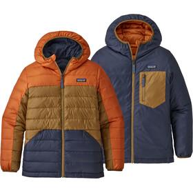 Patagonia Reversible Down Sweater Hoody Boys desert orange